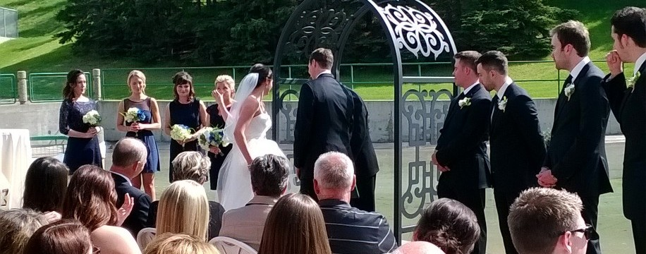 Wedding Arbour/Trellis in use