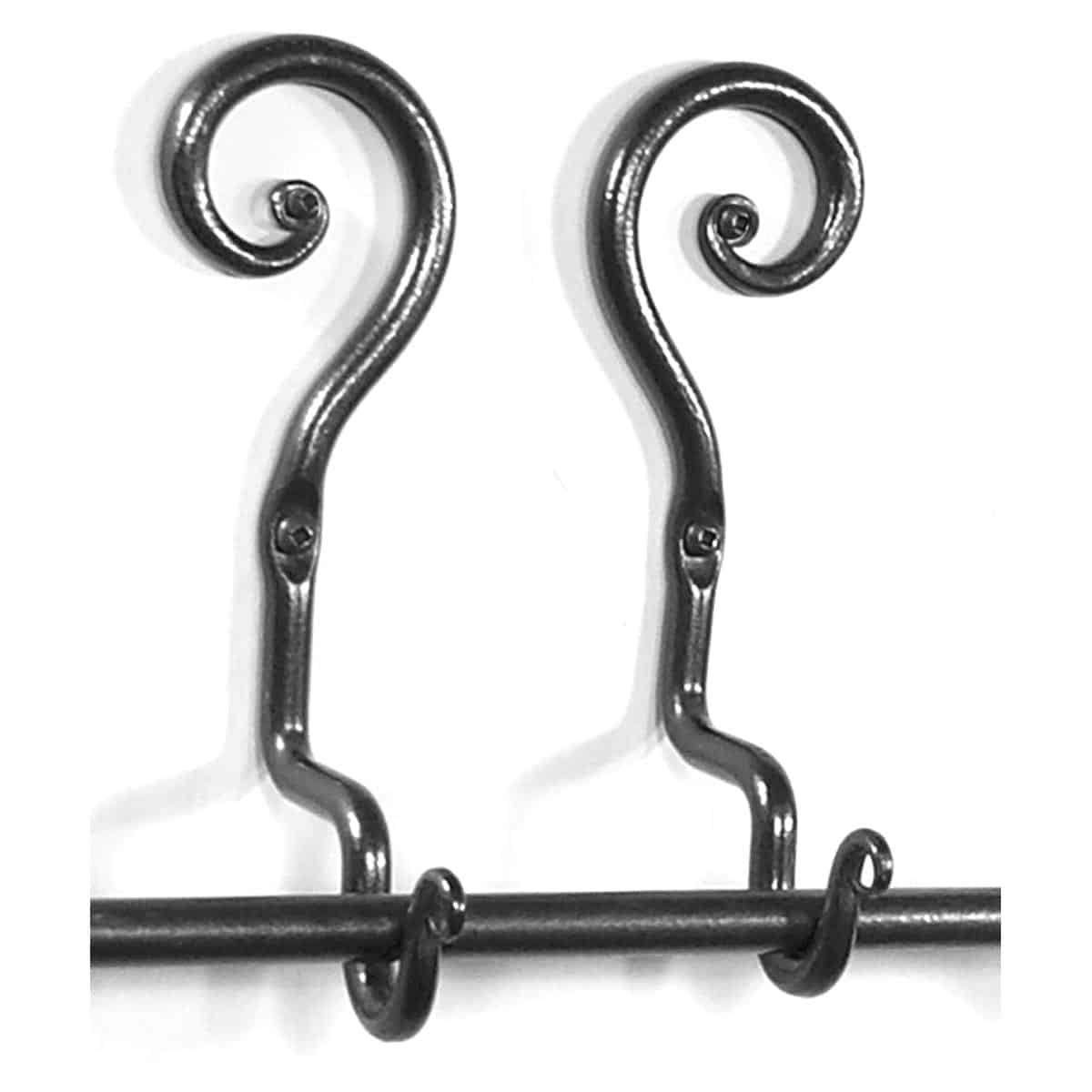 Curl Curtain Rod Holder, up