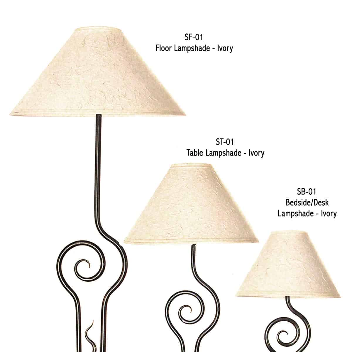 SF-01 Floor Lampshade – Ivory
