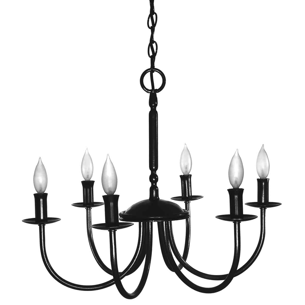 6 Light Chandelier, Lumina