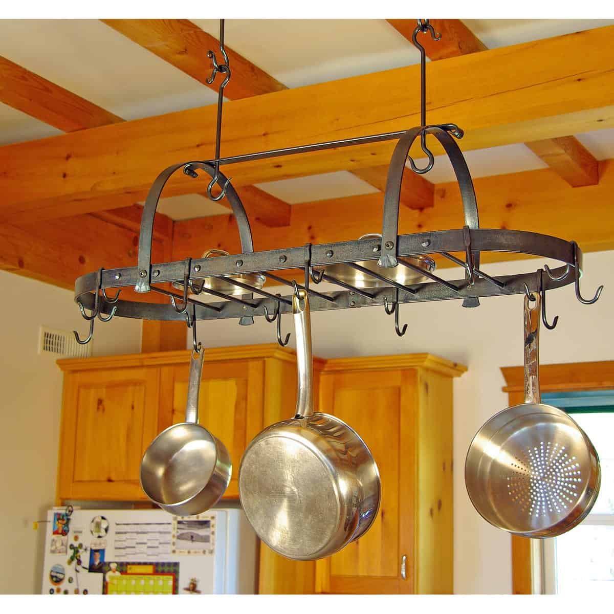 Oval Pot Rack with Bars