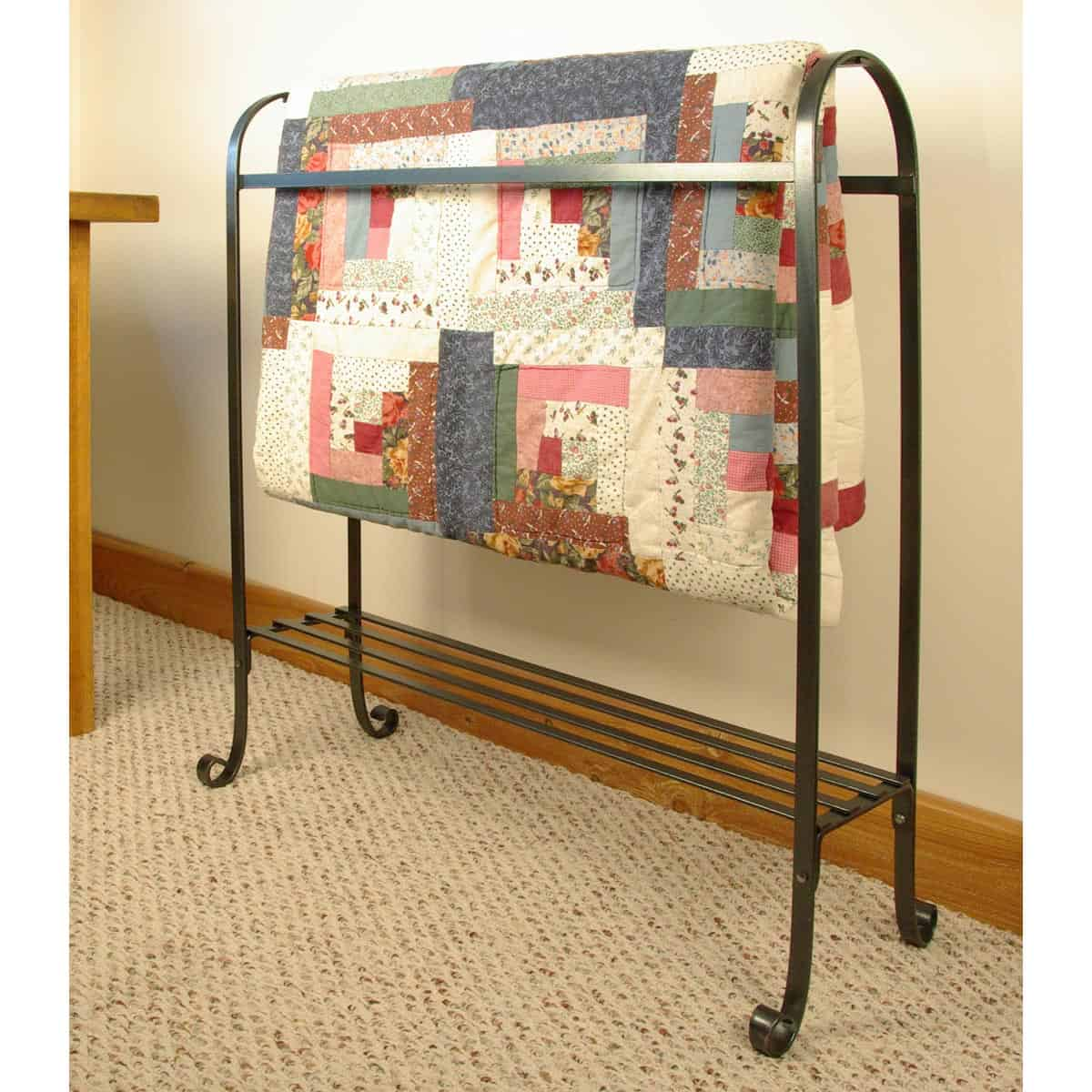 Quilt Stand with Shelf, large