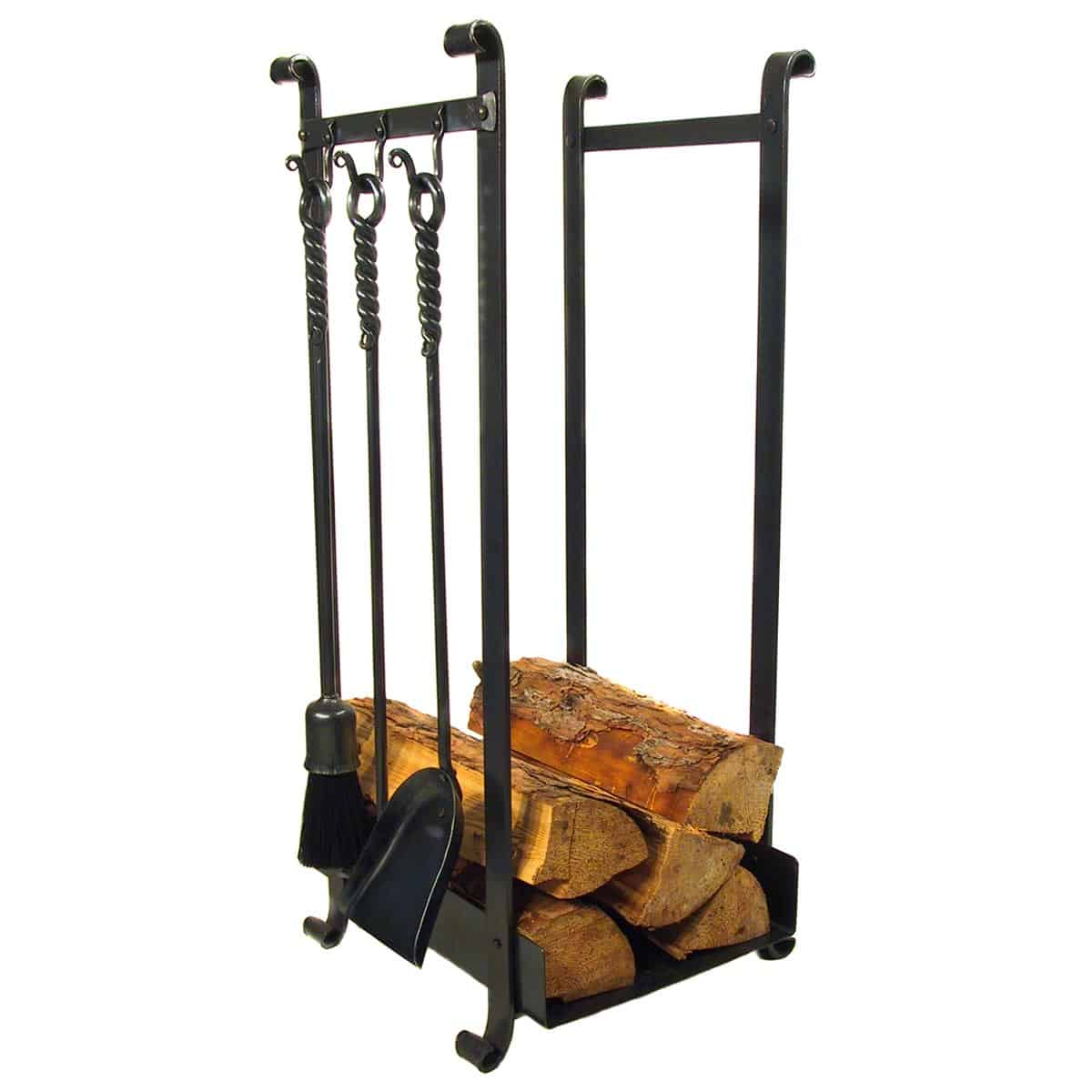 Log Holder with 3 Hooks