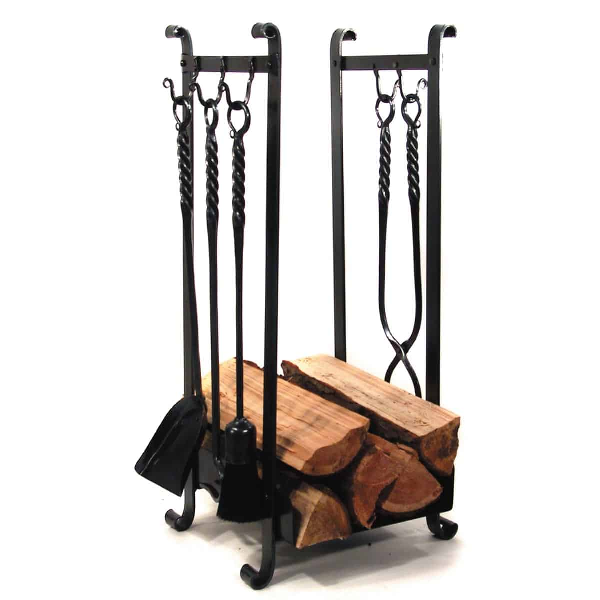 Log Holder with 5 Hooks - Furnishings- Edmonton Blacksmith Shop
